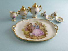 Porcelain limoges doll tea service