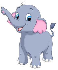 Little elephant clipart image Baby Animal Drawings, Art Drawings For Kids, Cute Drawings, Cute Bunny Cartoon, Cute Cartoon Animals, Little Elephant, Elephant Art, White Elephant, Indian Elephant
