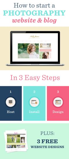 How to start a Photography Website & Blog in 3 Easy Steps! Plus 3 FREE Website Designs from Seaside Creative!