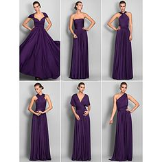 Sheath/Column Floor-length Jersey Convertible Dress – USD $ 129.99