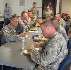 State Command Chief Michelle Struemph participated in a mentorship luncheon with the latest class of warrant officer candidates from 2D Battalion, 140th Regiment. Candidates got to ask Struemph questions and gather information specific to their branch and career progression.   Seated at the table are warrant officer candidate(s): Michael Byers, Jacob Carter, Robert Cross, Andrew Frazier, Brian Kessing, and Charles Wood.