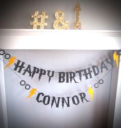 Harry Potter Party, Harry Potter Banner, Wizard Party, Birthday Banner, Spectacles, Hermione, Lightening Bolt, You Choose Colors, Gryffindor by BigKidBanner on Etsy https://www.etsy.com/listing/275739474/harry-potter-party-harry-potter-banner