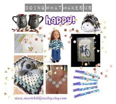 """""""Doing What Makes Us Happy!"""" by sweetchildjewelry ❤ liked on Polyvore featuring art"""