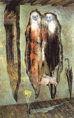 Remedios Varo:   Les murés, 1958.