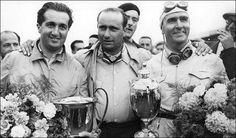 Alberto Ascari Campeon 1952 53 Juan Manuel Fangio Campeon 1951,1954,1955,1956,1957 Giuseppe Farina Campeon 1950
