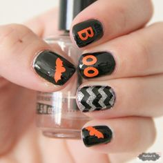NAILED IT DECALS: 1 Sheet of 42 Halloween Themed Nail Decals (You Pick the Color) by MadeByMunchiesMama on Etsy