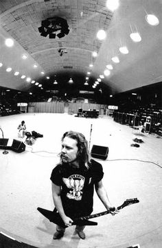 """JAMES HETFIELD of METALLICA, on a soundcheck before a concert  """"The World's No:1 Online Heavy Metal T-Shirt Store"""". Check it out our Metalhead Clothing and Apparel Store, Satanic Fashion and Black Metal T-Shirt Stores; www.HeavyMetalTshirts.net"""