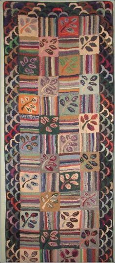 Antique Hooked Rug - love all the colors incorporated into this rug