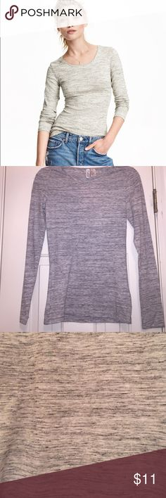 New H&M long sleeve tee New with tags! 60% cotton and 40% polyester H&M Tops Tees - Long Sleeve