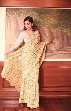 Check out our Mulberry Silk Lotus Sari by JODI available at Ogaan Online store at special price. Mulberry lotus sareePita embroidery and scalloped edgeFabric - Mulberry silk Lehenga Blouse, Sari, Bollywood Fashion, Bollywood Actress, Bollywood Style, Desi Wear, Indian Couture, Sonam Kapoor, Half Saree