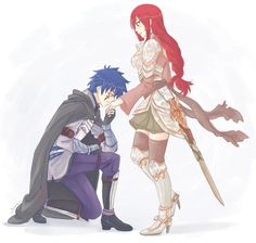 Well... STILL! I must say it *^*! Jellal is Erza's prince in shinning armor. (Just wishes it was Misty and Edo Erza x3).