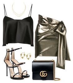 A fashion look from May 2017 featuring silk top, short skirts and black strappy sandals. Browse and shop related looks. Classy Outfits, Sexy Outfits, Pretty Outfits, Stylish Outfits, Look Fashion, Teen Fashion, Korean Fashion, Womens Fashion, Fashion Trends