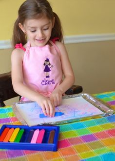 Watercolor-Resist Paintings Tutorial *Perfect kids activity for fall