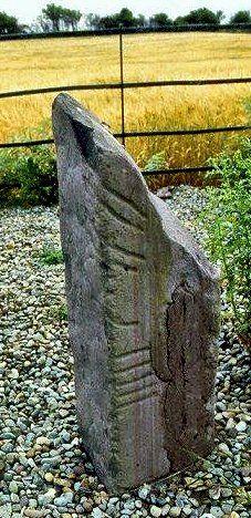 Ogham stone, Kilcoolaght, county Kerry, Ireland.