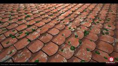 ArtStation - Medieval Roof Tile Substance, Chico Spans