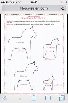 Dala horse stencils