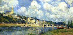 The River at Saint Cloud - Alfred Sisley