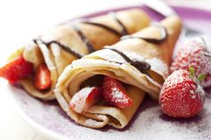 Strawberry and Chocolate Crepes!