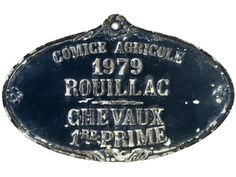 Vintage French Aluminum Award Plaque - 1979 - Relique