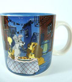 Disney Lady And The Tramp Coffee Mug Spaghetti Dinner Bella Note