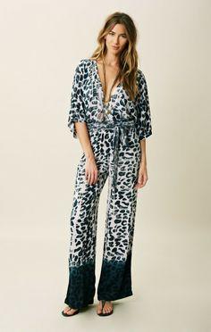 blue life | animal print jumpsuit