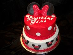 Minnie Mouse Birthday Cakes | Minnie Mouse Birthday Cake - Fantasy Dream Cakes by Marie