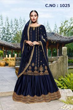 Top :- Velvet Lengha :- American satin / Unstitched) Dupatta :- Net Wrok :- Embroidery Length :- Max up to 46 Size :- Max up to 50 Type :- Semi Stitched Weight : Bollywood Lehenga, Bollywood Fashion, Lehenga Choli, Sharara, Lehenga Suit, Western Dresses, Western Outfits, Salwar Kameez, Westerns