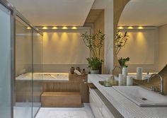 Descubra fotos de Casas de banho Moderno por Isabela Canaan Arquitetos e Associados. Encontre em fotos as melhores ideias e inspirações para criar a sua casa perfeita.
