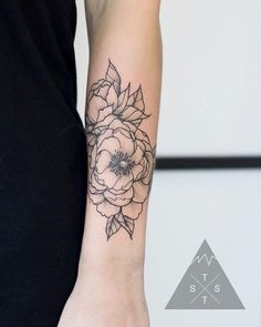 Floral tattoo by Vanessa Dong thesummittattoo.com