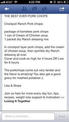 Best pork chops ever