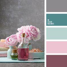 """""""пыльный"""" розовый, глубокий темно-зеленый цвет, голубовато-зеленый, нежный розовый, оттенки розового и серо-голубого, оттенки сине-зеленого цвета, подбор цвета, розовый, серебряный, серый цвет, сине-зеленые тона, цвет морской волны, цветовое"""