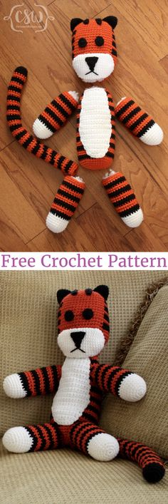 Hobbes Take 1 and Take 2 - Free crochet patterns adapted from Sukigirl's Hobbes