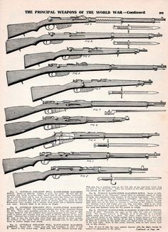vintage everyday: Principal Weapons of The World War I