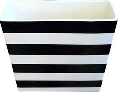 Luxe Home Striped Rectangular Vase