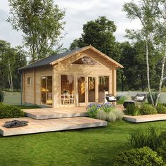 Attefallshus Eva (7103045) Byggmax.se Container Architecture, Architecture Design, Prefab Cottages, Studio Shed, Backyard Studio, She Sheds, Small House Design, Home Fashion, Future House