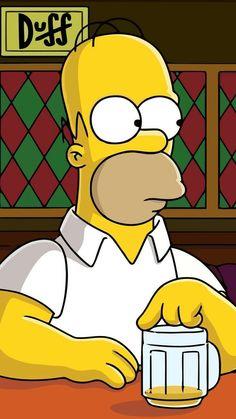 《The Simpsons / Homer Simpson》 Homer Simpson Drawing, Bart Simpson, Homer Simpson Beer, Simpson Wallpaper Iphone, Cartoon Wallpaper, The Simpsons, Simpson Tumblr, Simpsons Drawings