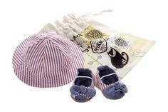 Hat, peep-toe shoes, Nautical Denim