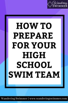 When you prepare for your high school swim team, you give yourself a better chance to find success during the season. And ease any anxiety you might have. Swim Team, Anxiety, High School, Encouragement, Swimming, Success, Sports, Swim, Hs Sports
