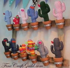 fun baby room display: a cactus with birdy & a flower : free template