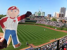 Flat Bob at Wrigley Field!  Help us raise awareness of SADS conditions and save young lives!  www.StopSADS.org/flat-bob