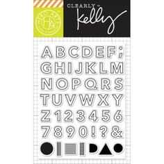 Hero Arts - Clearly Kelly - Clear Stamps -Outline Letters