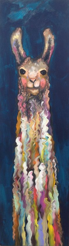 Tall Llama in Deep Dark Turquoise by Eli Halpin elihalpin.com #llama