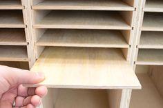 Slide shelves in place