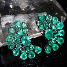 Silvia Furmanovich emerald earrings