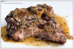 Slow Roasted Lamb; Slow Roasted Lamb; lamb; onion; garlic; rosemary; juniper berries; recipe; lamb recipes; easy; fast; healthy; Spicie Foodie; beef alternative; lamb shoulder; cordero asado; romero; recetas