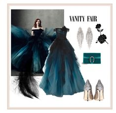 """Untitled #153"" by wakawaka on Polyvore featuring Marchesa, Gucci and Jimmy Choo"