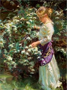 """Daniel F. Gerhartz Handsigned and Numbered Limited Edition Giclee on Canvas:""""Nana's Garden"""""""