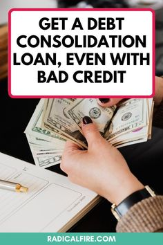 If you have a lot of debt or different types of debt, then a debt consolidation loan might sound like a good idea. However, if you have low credit, you may not have many options. The good news is, you can still get a debt consolidation loan, even with bad credit. In this article, you will learn about the ins and outs of a debt consolidation loan, the pros and cons of getting one, and what your alternatives are if you aren't ready to get a debt consolidation loan #savemoney #debtfree Financial Goals, Financial Planning, Investing Money, Saving Money, Loan Consolidation, Early Retirement, Debt Payoff, Student Loans, Debt Free