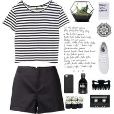 //we're craving different kind buzz by nyahbug on Polyvore featuring polyvore fashion style Enza Costa rag & bone Vans GiGi New York CASSETTE