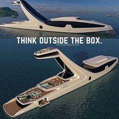 Be unique. What do you think of this new yacht concept? . Via @realchriscota . . #billionairesvision #yacht #superyacht #negotiation #Hustlehard #CEO #manifest #ferrari #forex #lawyer #jesus #god #universe #positive #Motivation #entrepreneur #success #succed #entrepreneurs #dreams #millionairementor #instapray #bussiness #dapper #sxsw #boss #ceo #team